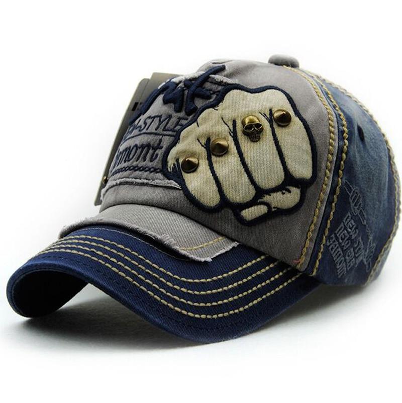 Kapelë e re unisex Snapback Rivet Fist Baseball Kapele pambuku - Aksesorë veshjesh - Foto 2