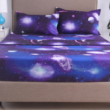 Simple 3d Star Nebula 1.8/2.2 m bed sheet four-piece set 266*259 Europe and the United States king large size dream Comfort sof