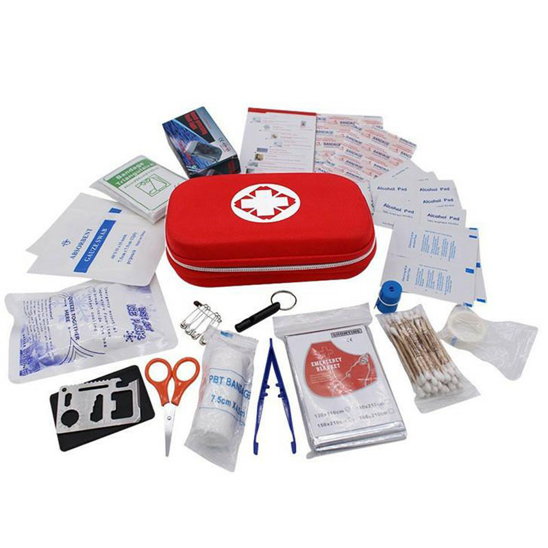 44pcs/lot First Aid Emergency Kit Outdoor Waterproof EVA Pouch For Family Camping Travel Emergency Medical Treatment YJJB001