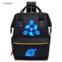 Casual Naruto Sharingan Schoolbag Women Back Pack Bagpack Men Luminous Printing Portable Hand Backpack Laptop Bag Mochila