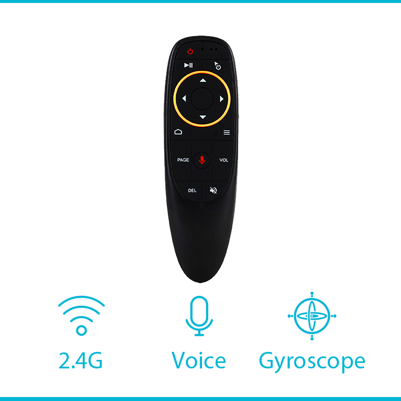 <font><b>G10S</b></font> Voice Air Mouse G20 Remote 2.4Ghz Mini Wireless G30 Android TV Control Learning Microphone for Computer PC Android tvbox image