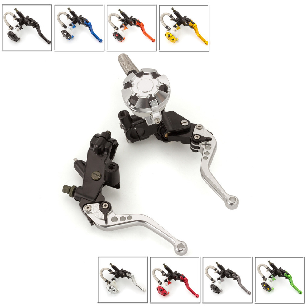 FX CNC 7/8 Motorcycle Brake Clutch Lever Master Cylinder Reservoir Hydraulic For Husqvarna SMS 125 2008 Motorcycles Accessories 7 8 22mm universal motorcycles brake clutch levers master cylinder reservoir for suzuki 125 300cc moto hydraulic brake lever