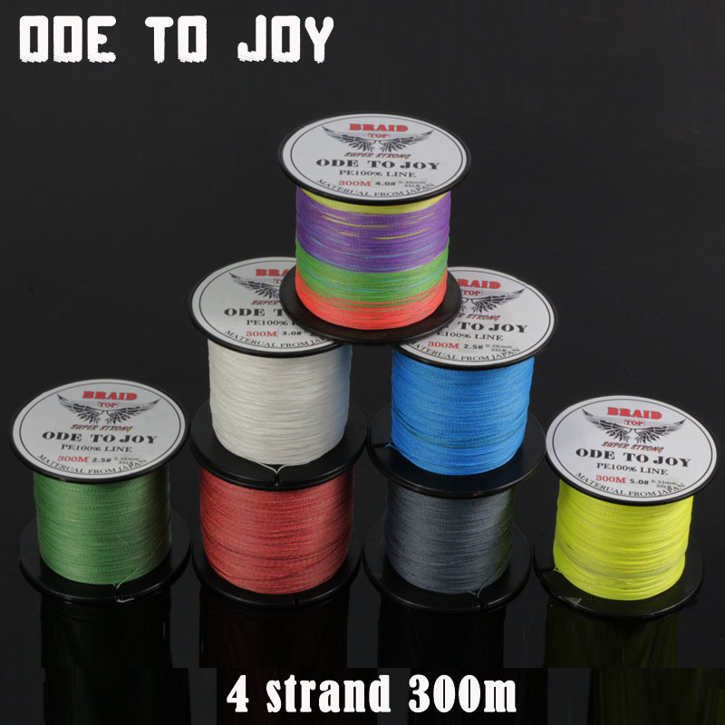ODETOJOY Super Strong 300M 4strand fishing line Japan multifilament PE100% braided fishing line de pesca fishing cord PE line dagezi super strong 4 strand 300m 330yds 100% pe braided fishing line 10 80lb multifilament fishing line carp fishing saltwater