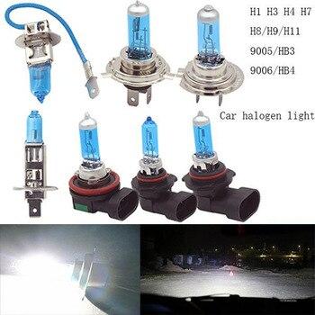 цена на 1pc Car Lights Super White Halogen Bulb H4 H7 H11 12V 6000k Halogen White Fog Bulb Car Head Lamp Light 12V Car Headlight Lamp