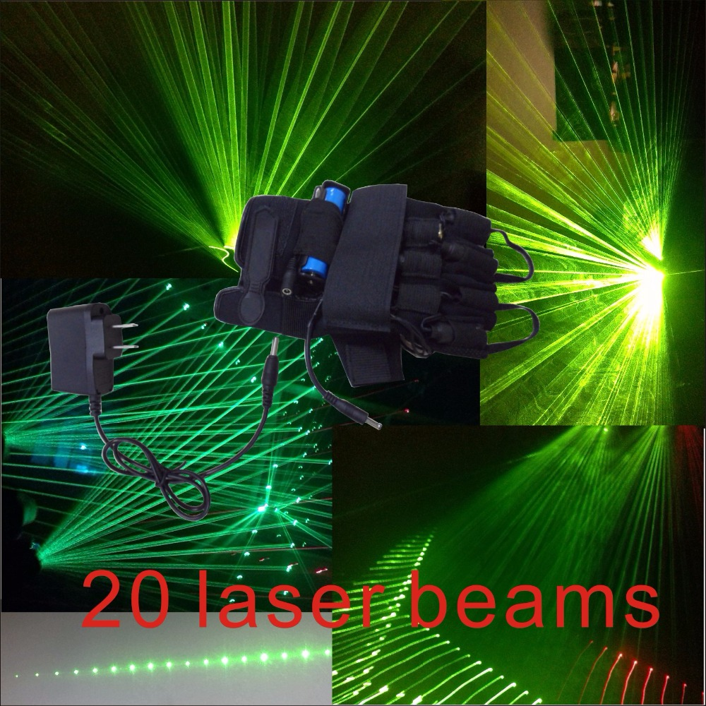 ФОТО 532nm green laser beam multi beam laser luminous gloves gloves stage props DJ night special props