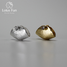 Lotus Fun Real 925 Sterling Silver Natural Zirconia Handmade Fine Jewelry Creative Handbag Design Pedant without Necklace Brinco