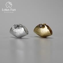 Lotus Fun Real 925 Sterling Silver Natural Zirconia Handmade