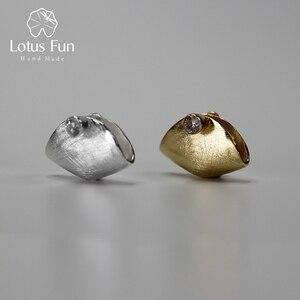 Image 1 - Lotus Spaß Echt 925 Sterling Silber Natürliche Zirkonia Handgemachtes Feine Schmuck Kreative Handtasche Design Pedant ohne Halskette Brinco