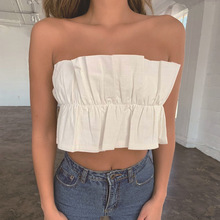 Streetwear korean neon crop top 2019 plus size women sexy tops off shoulder sleeveless harajuku women tank top white crop tops plus size embroidery overlay one shoulder tank top
