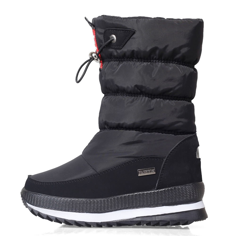 De Impermeables blanco Algodón Zapatos Tubo 40 Grandes Mujeres Antideslizantes Raquetas Abajo Invierno Añadir Negro rojo pxTqz