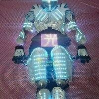 Полноцветный цвет светодио дный одежда 2017 одежда детская шоу одежда дисплей светодио дный LED костюмы для выступлений светодио дный LED робот