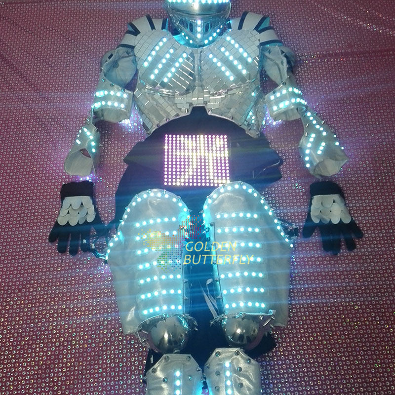 2017 LED Clothing Full color color clothes Children show clothing Display function LED Costumes Performance clothing  LED Robot