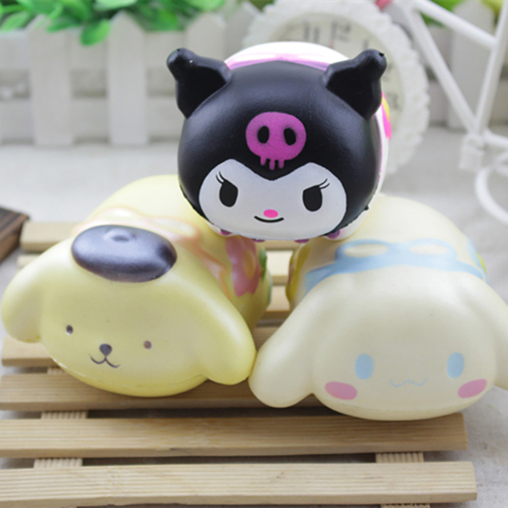 Cute Cartoon Animals Squishy Slow Rising Squeeze Phone Straps Ballchains Toys Healing Small Plaything Healing Toy W606