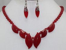 "Natural Jewellery women's New – beautiful red gem necklace 18 "", earrings Quartz Fine watch wings women queen"