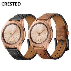 Кожаный ремешок для часов Samsung Galaxy Watch 46 мм 42 мм Gear S3 frontier/классический ремешок для часов 22 мм/20 мм, наручный браслет amazfit bip/bip 2