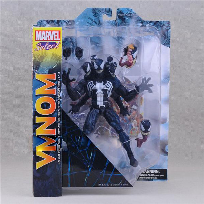 1pc/lot Marvel Spider Man Figures Spiderman Removable Heads Venom PVC Action Figures Toys For Kids Model Collection Doll 20cm цена