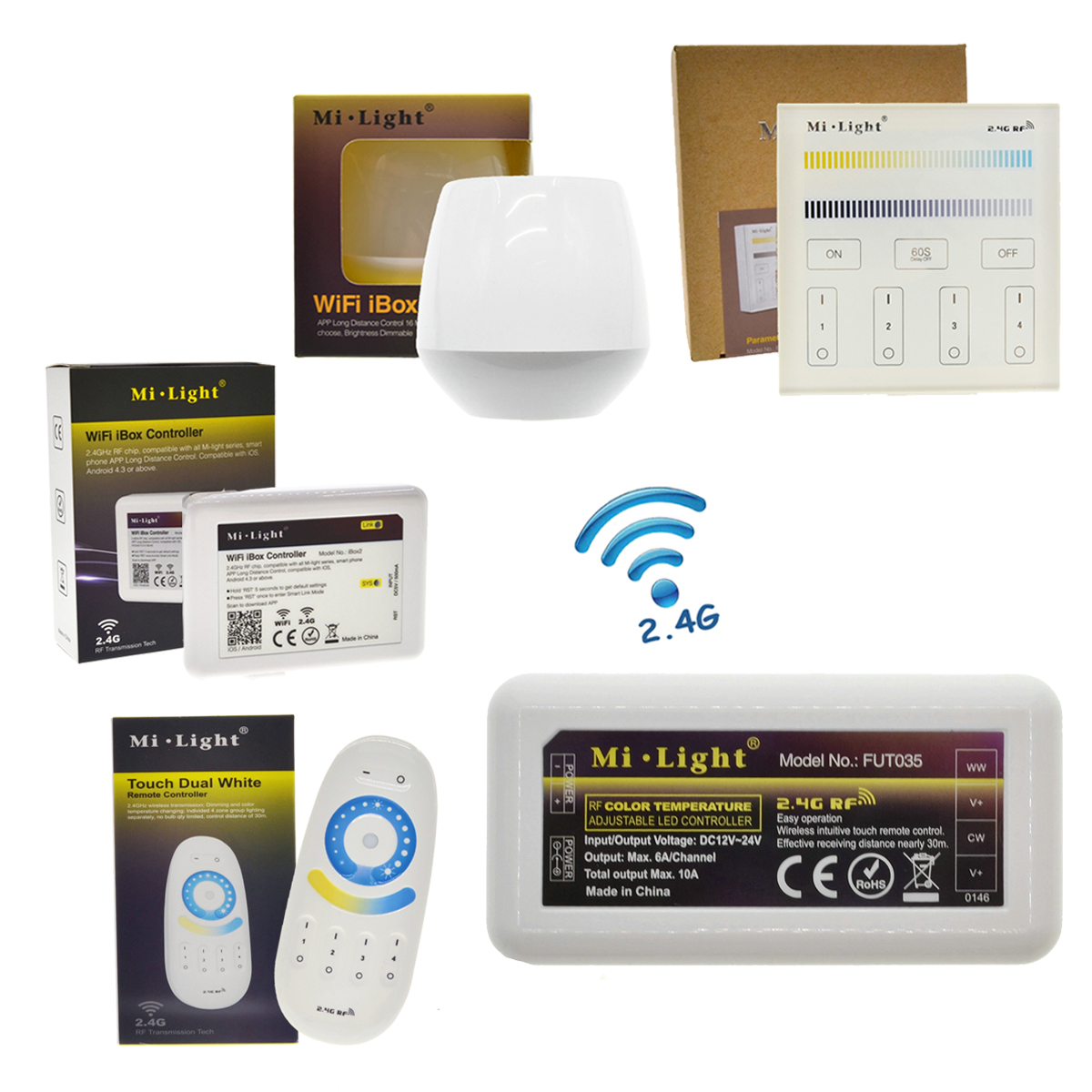 Mi Light <font><b>Remote</b></font> Controller Color Temperature Adjustable & Brightness <font><b>Dimmer</b></font> DC12-24V for <font><b>LED</b></font> <font><b>Strip</b></font> image