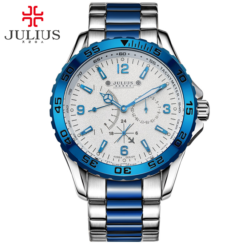 JULIUS 2017 New Arrival Luxury Top Brand Chronos small dial Watches High Quality Men Outdoor Sport