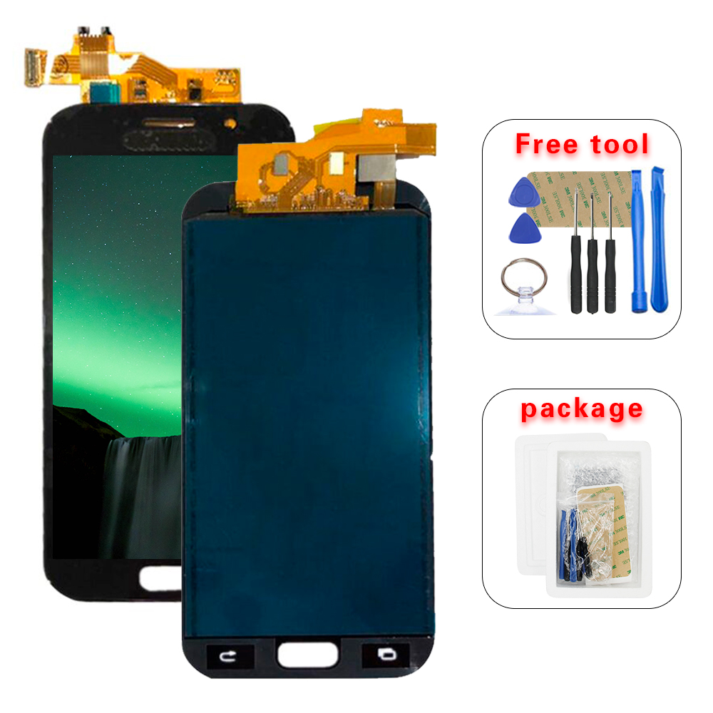 High Quality For <font><b>Samsung</b></font> Galaxy A520 <font><b>A520F</b></font> SM-<font><b>A520F</b></font> A5 2017 LCD <font><b>Display</b></font> Touch Screen Digitizer Glass Assembly image