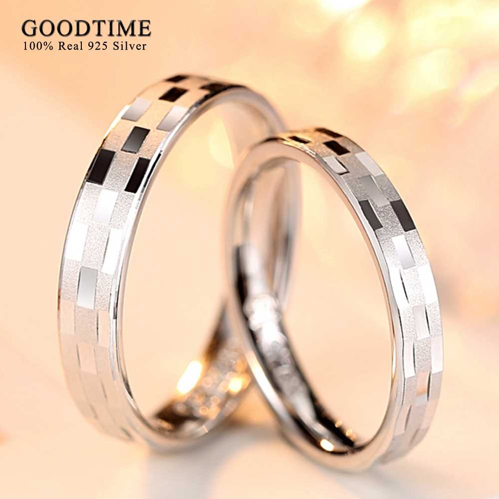 1PCS Simple Ring 925 Sterling Silver Rings For Women Classic Ring Jewelry Wholesale Pure Silver 925 Couple Rings Lovers Gifts