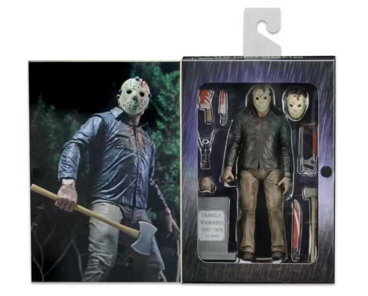 18cm Friday the 13th Jason Voorhees Action figure Anime Doll Cartoon Figure PVC Collection Model Toy for friends gift robin hood 4d xxray master mighty jaxx jason freeny anatomy cartoon ornament