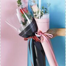 20 шт прозрачных свадебных роз один цветок мешок букет оберточная бумага пластик Opp мешок Цветочные упаковочные материалы аксессуар
