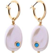 Joolim Elegant Pearl Hoop Earring Party Design Jewelry Korean