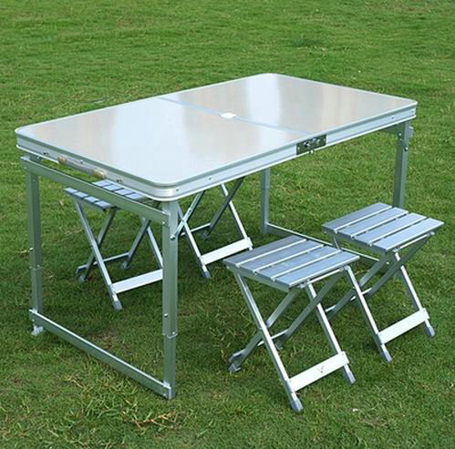 Aluminum Outdoor Table Sets 1 4 Chairs Folding And
