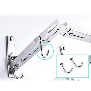Wall Mount Stand | 304 Stainless Steel Wall Mount Microwave Bracket/Deluxe, With Stand And Hook, Adjustable, Removable, Sturdy And Durable