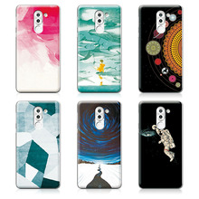 "Couple Phone Case For Huawei Honor 6X 5.5"", 14 Patterns Universe Planet Astronauts Design Coque For Huawei Honor 6X Case"