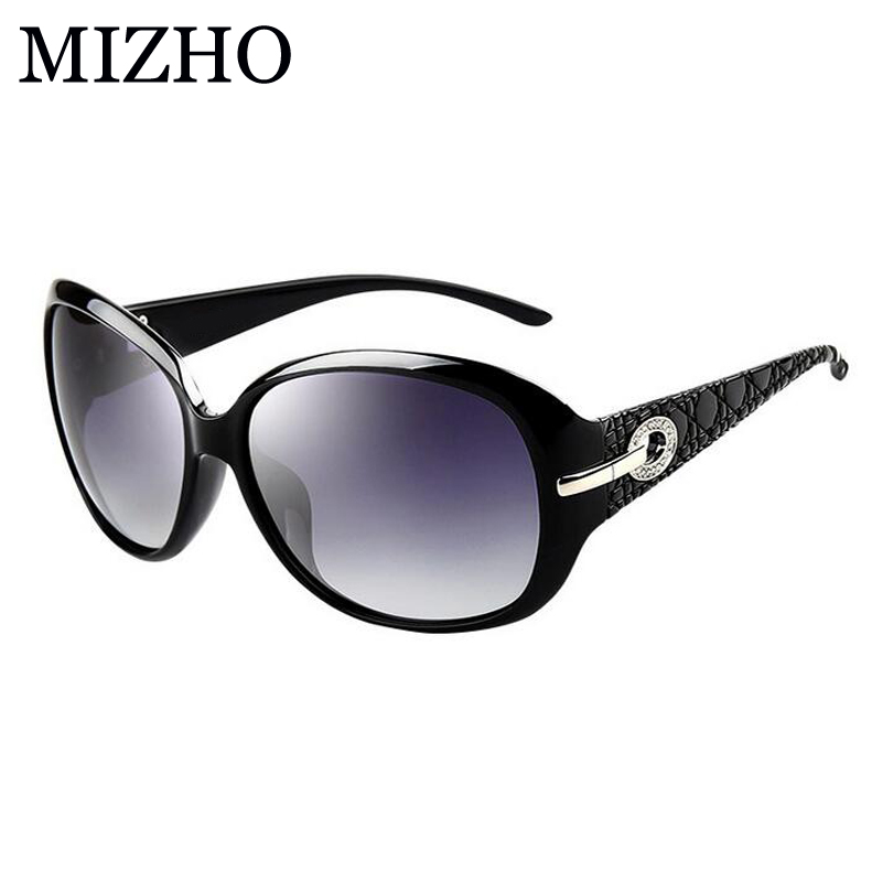 MIZHO Artificial Ornamento De Cristal Gradiente Oval Óculos De Sol Das  Mulheres Designer de Marca Do 54e5afde54