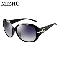 MIZHO Big Box Artificial Crystal Ornament Gradient Sunglasses Women Polarized With BOX High Quality UV400 Sun