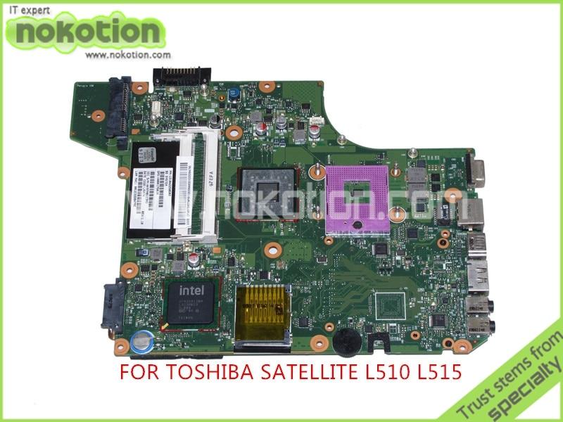 NOKOTION PN 1310A2250502 SPS V000175020 For toshiba satellite L510 L515 laptop motherboard GM45 DDR2 nokotion 60 days warranty laptop motherboard for toshiba satellite s50 s50dt a a6 5345m cpu pn 1310a2556002 sps v000318020