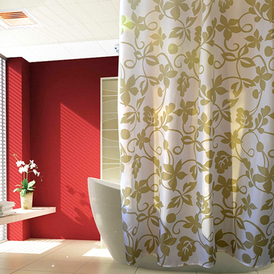 Fashion Thickening Polyester Fabric Shower Curtain Cloth