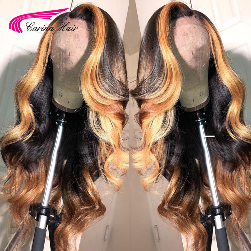 HTB1AyNYKsfpK1RjSZFOq6y6nFXaD 13x6 Deep part Lace Front Human Hair Wigs Body Wave 180% Density Brazilian Remy Human Hair Pre-Plucked Hairline Carina Hair