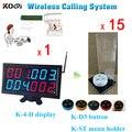 Smart Wireless Ресторан Заказ Кухонное Оборудование K-4-D + K-D3-White + K-ST-Черный Официант Система Вызова