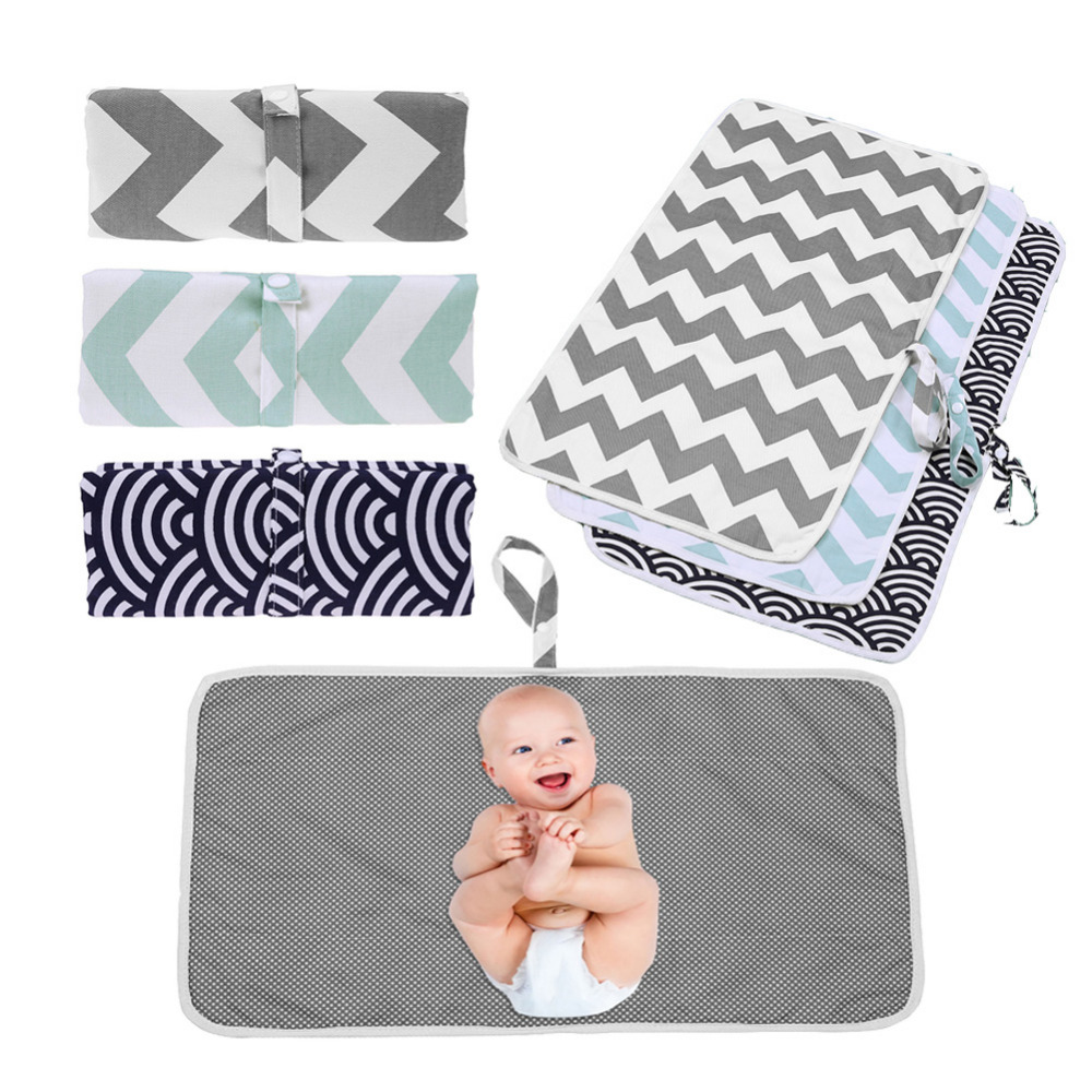 Baby Portable Foldable Washable Compact Travel Nappy Diaper Changing Mat Waterproof Baby Floor Mat Change Play Mat Baby Care(China)
