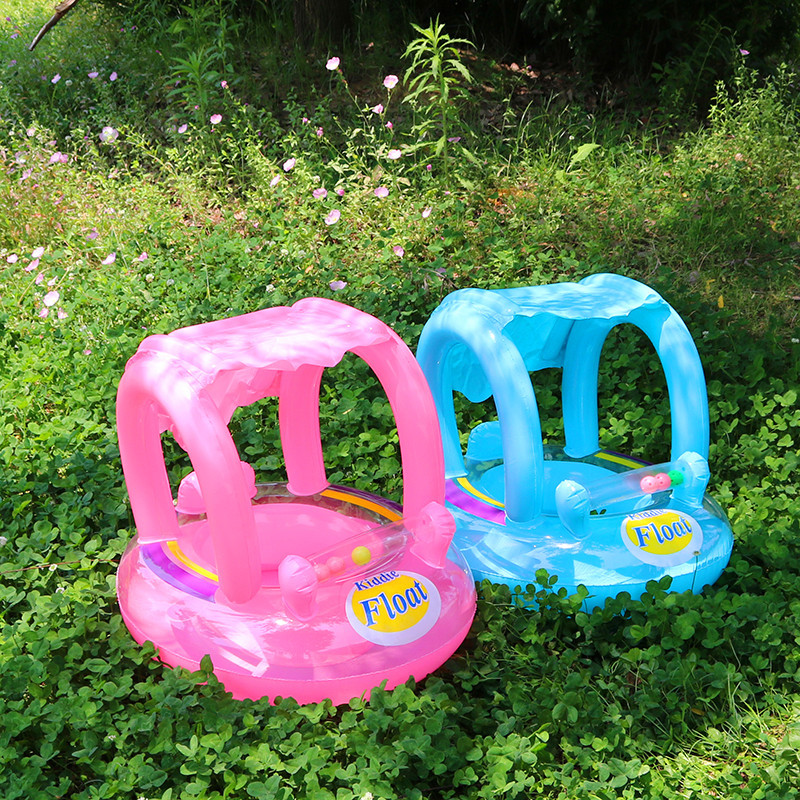 Baby Inflatable seat Pool Float swimming ring with sunshade baby Pool Float Kids Swimming seat Inflatable Float water toys ...