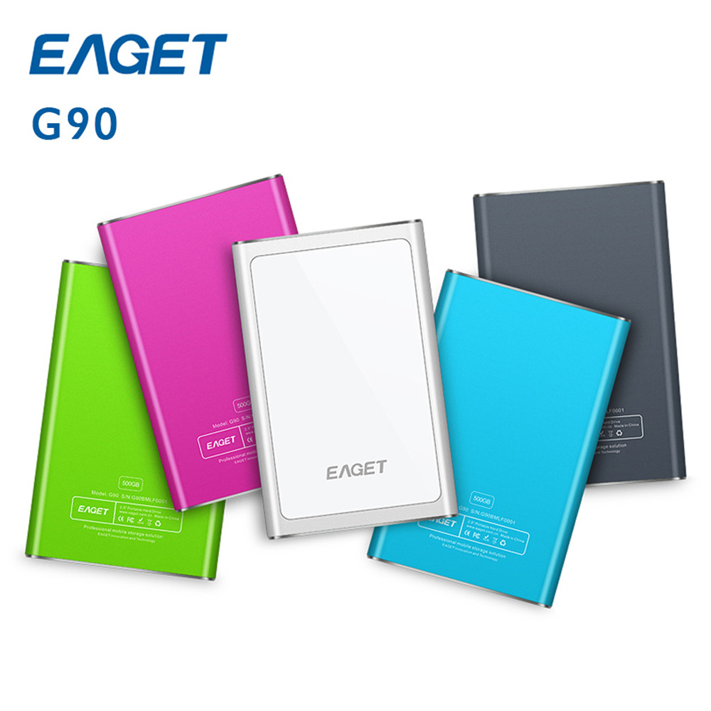 EAGET G90 500GB 1TB HDD USB 3.0 Hard Drives High speed External portable storage Desktop Laptop mobile hard disk 100% origianl eaget g30 3tb 2tb 1tb 500gb 2 5 usb 3 0 high speed shockproof external storage hard drive hdd desktop laptop mobile hard disk