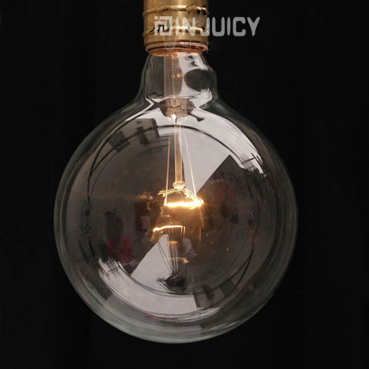 4PCS G95 RH LOFT E27 Vintage Edison Bulb Ball Lamp Light 40W Clear Glass Transparent  Retro Bar Cafe Shop Halogen