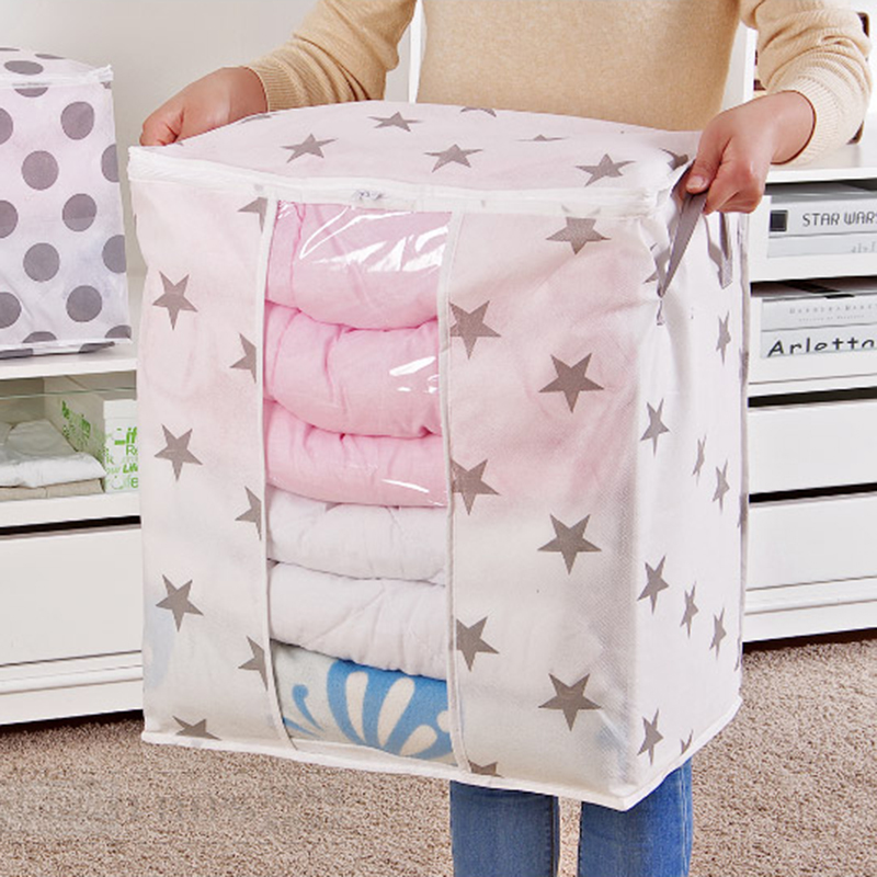 Hot Compression Collapsible Pouch Quilt Dust Bag Organizer Clothes Thin Section Household Items As Closet Organizers storage bag