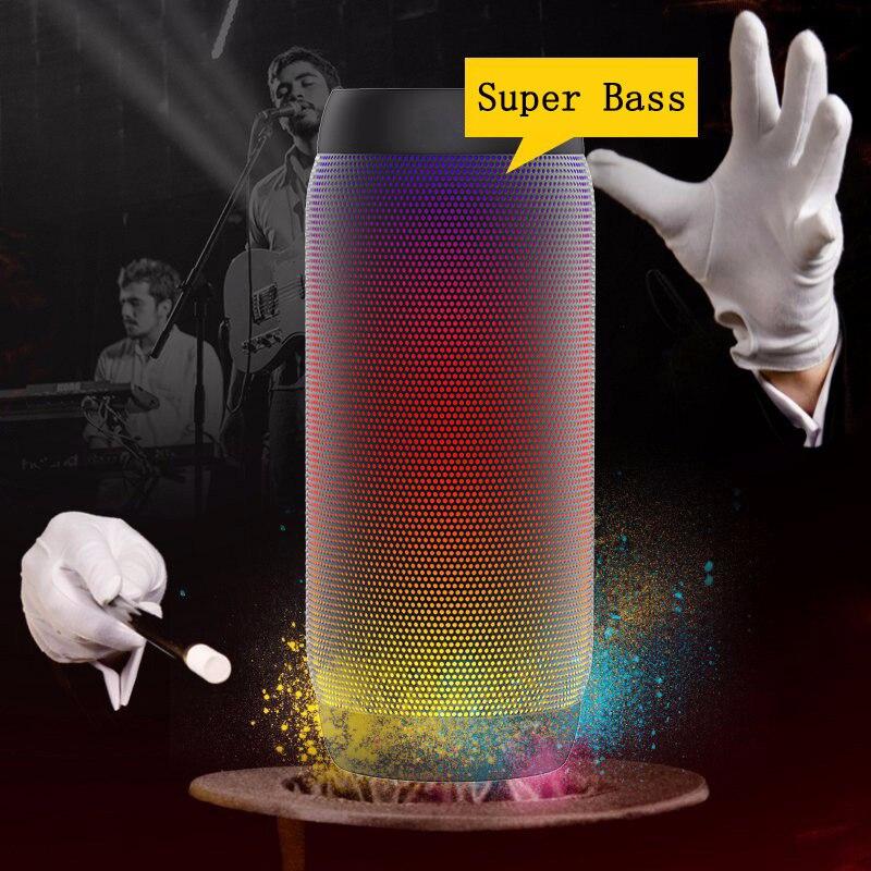 Haut-parleur Bluetooth coloré étanche Super basse caisson de basses Sport extérieur boîte de son FM haut-parleur Portable pour iPhone Xiaomi Huawei