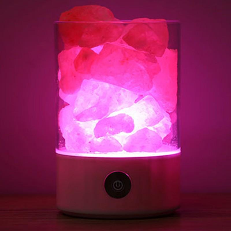 Himalayan Salt Crystal Rock Lamp Natural Purification Air Multicolor Lamps Night Light