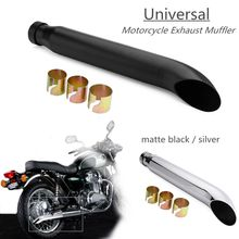 Universal Motorcycle Cafe Racer Exhaust Pipe For Harley Bobbers