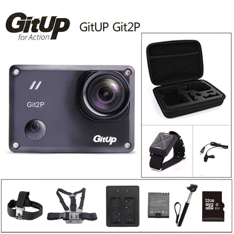 bilder für Original GitUP Git2P Action Kamera 2 Karat Wifi Sport DV PRO Full HD 1080 P 30 mt Wasserdichte mini Camcorder 1,5 zoll Novatek 96660 Cam