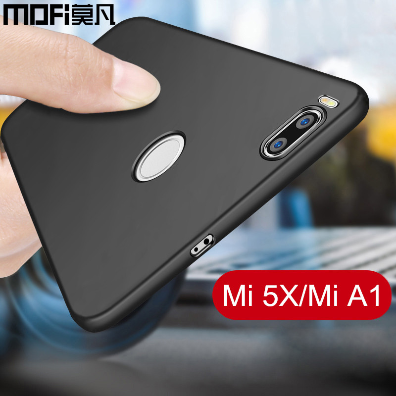 Xiaomi mi 5x case cover mi A1 back cover hard PC protective phone capas black MOFi original Xiaomi mi5x case miA1 cover 5.5