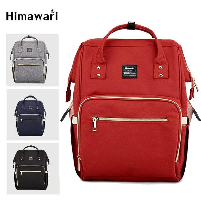Himawari klasik bebek bezi çantası moda kadın seyahat sırt çantaları Laptop büyük kapasiteli mumya analık bez torba Bolsa Maternidade