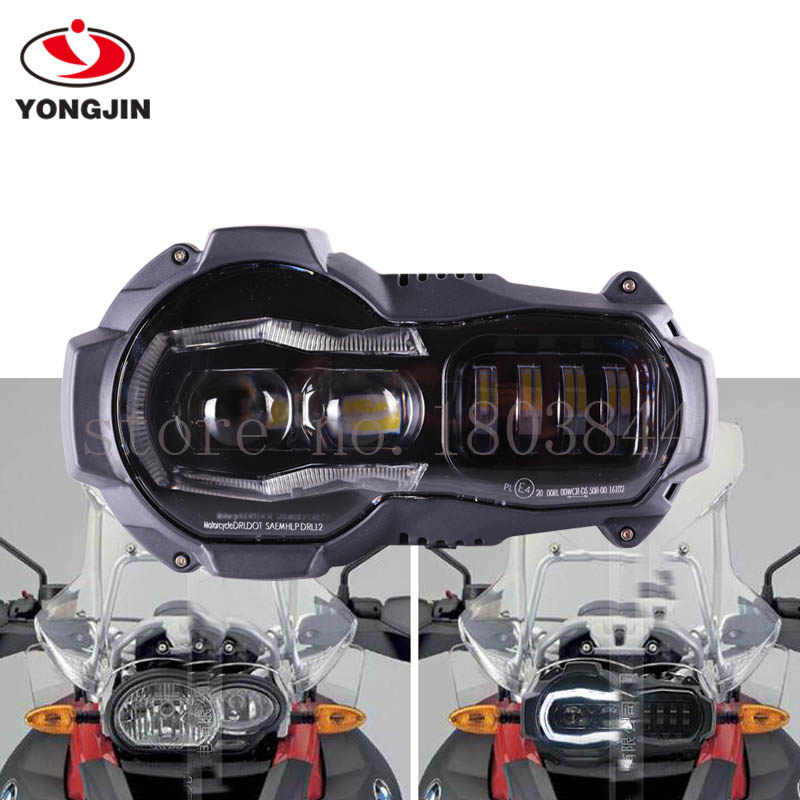 LED Headlight For BMW 2005 - 2012 R1200GS / 2006 -2013 R1200GS Adv With 2 Years Warranty