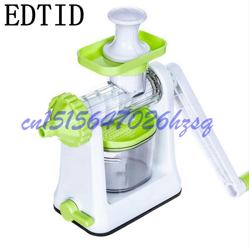 EDTID Household Manual Handheld Healthy Fruit Ice Cream Maker juice and ice cream Making Machine