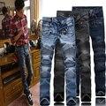 2016 hombres de la manera balmaied balmans biker jeans de calidad superior diseñador hombre jeans famosa marca denim jeans, tamaño 28-38, envío libre